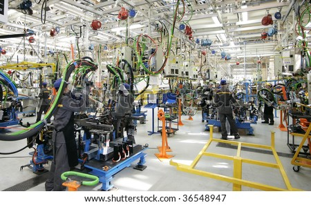 Car industry - stock photo