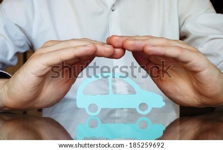 car insurance concept - stock photo