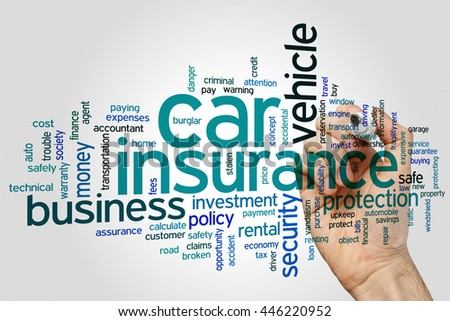 Car insurance concept word cloud background - stock photo