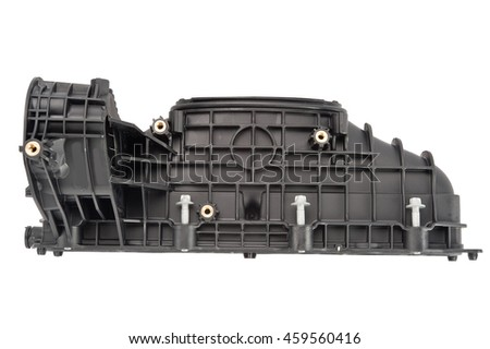 Car intake manifold (with clipping path) isolated on white background