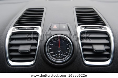 car interior close up - stock photo