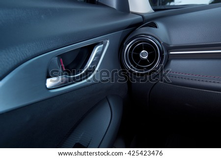 Car interior - front door view