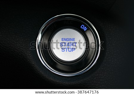 car interior, key, start&stop