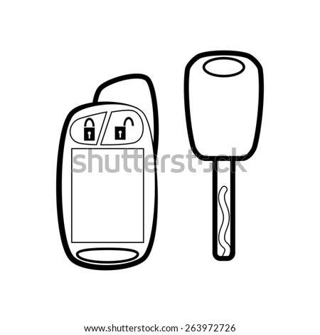 Car key with remote - stock photo