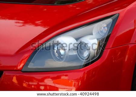 car lights - stock photo