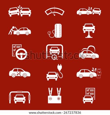 Car Maintenance icons set - stock photo