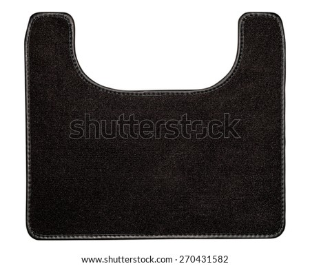 Car mat isolated on white. Interior detail. - stock photo