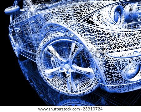 Car model - stock photo