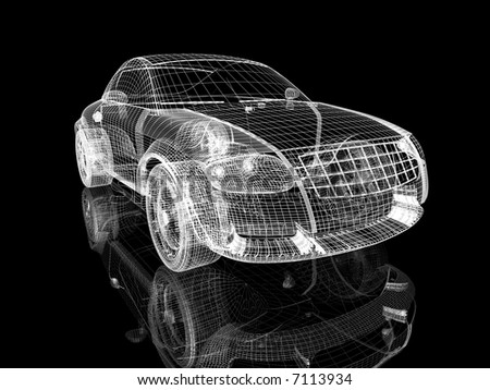 car model - stock photo