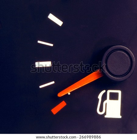 Car need fuel - stock photo