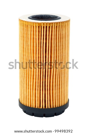 car oil filter isolated on white background