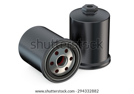 Car Oil filters isolated on white background - stock photo