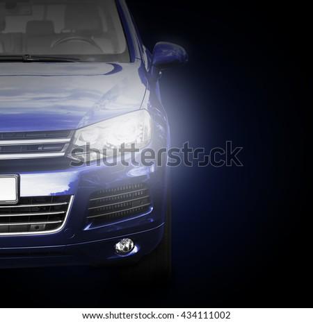 Car on dark background - stock photo