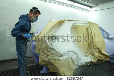 Car painting. - stock photo