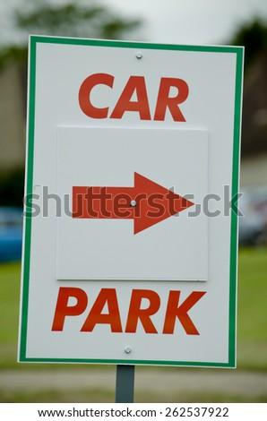 CAR PARK SIGN - stock photo