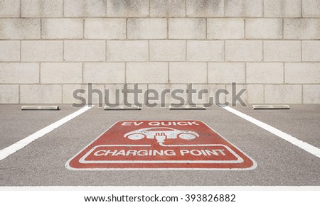 Car parking for Charging of an electric car