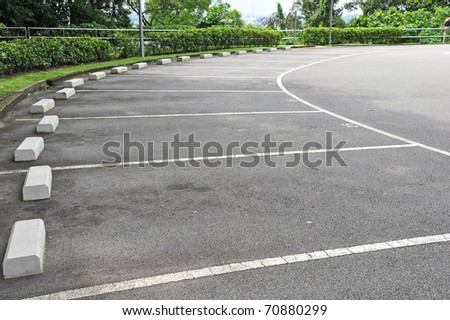 Car parking Lot With White Marking - stock photo