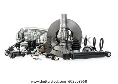 Car Parts Service On Vehicle Shock Stock Photo 602809658