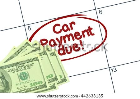 car payment calendar