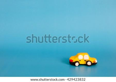 Car plasticine model clay  - stock photo