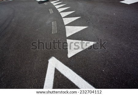 car race asphalt - stock photo