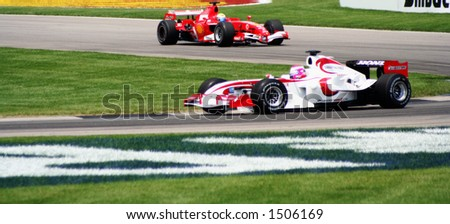 Car race in Formula One in Indianapolis 2006 - stock photo
