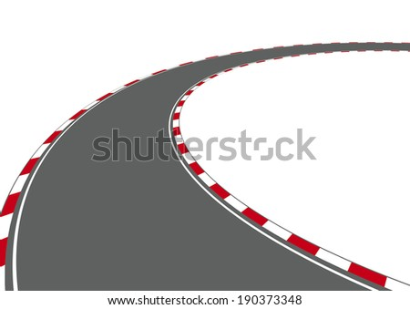 Car Racing Track On White Background Illustration