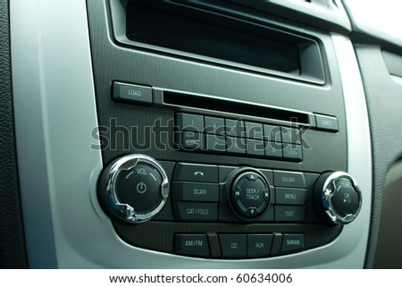 car radio - stock photo