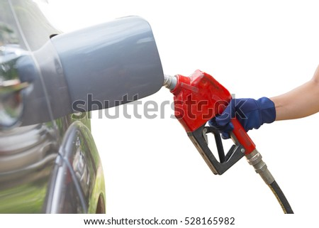 Car refueling  at gas station