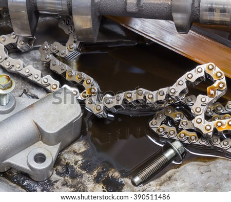 Car repair, auto parts car engine - stock photo