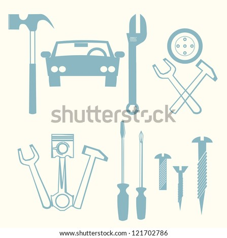 car repair icons