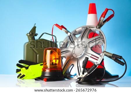 car repair shop items - stock photo