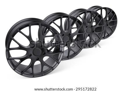 car rims  isolated on white background - stock photo