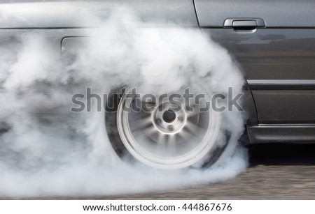 Car running on the road. - stock photo