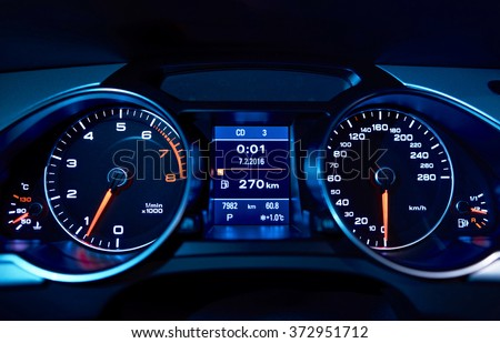 Car's dashboard