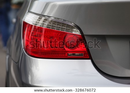 Car's exterior details.Element of design.Rear light. - stock photo