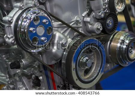 Car's motor, engine - stock photo