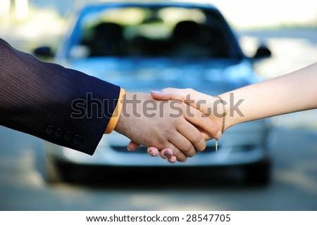 Car sale - stock photo
