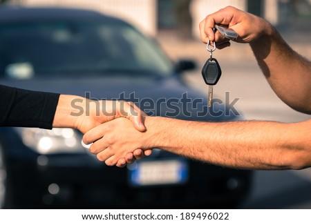 car sales - stock photo