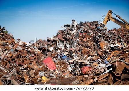 Car scrap - stock photo