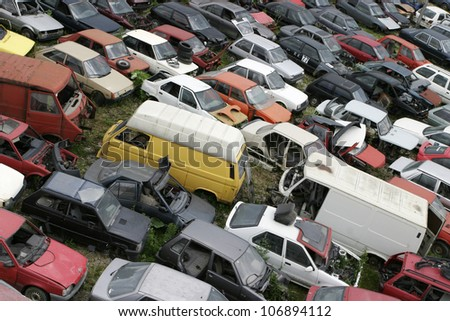 Car scrap, scrap metal, recycling