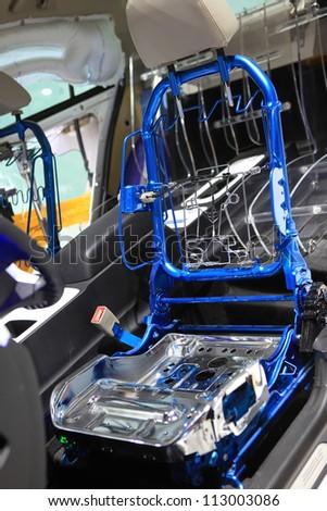 Car seat frame - stock photo