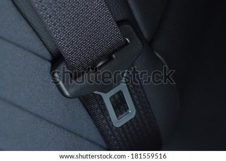 Car seatbelt buckle - stock photo