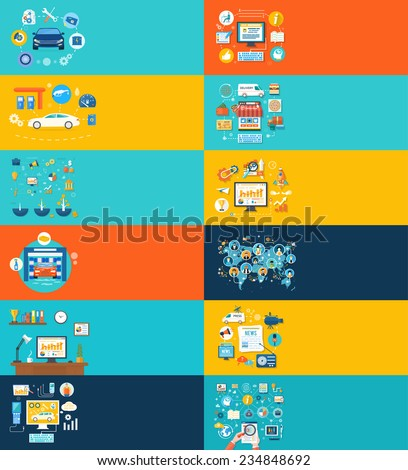 Car service car wash gas station auto diagnostics. Social media and network connection concept. On line store, news portal, work on task. Raster version - stock photo