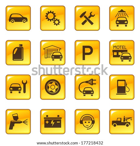 Car service icons. Raster version of EPS image 41845933 - stock photo
