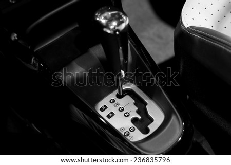 car speed changing box - stock photo