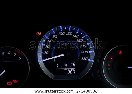 Car Speed Dashboard. - stock photo