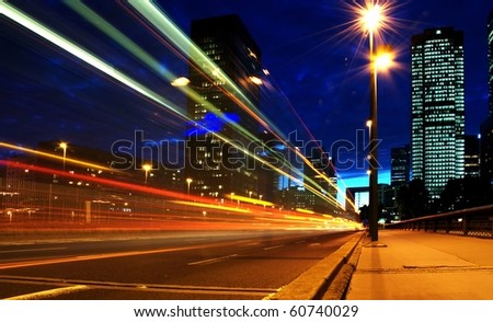 car speed in building center - stock photo