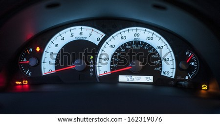 Car Speedometer - stock photo