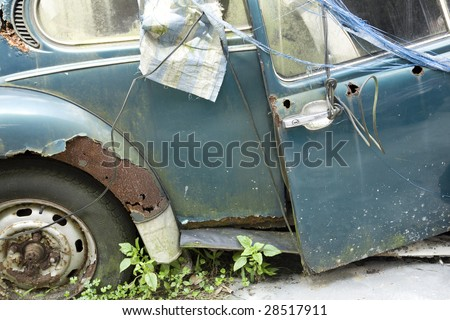 car that no longer serviceable - stock photo
